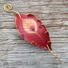 leather-phoenix-barrete4 ~ Beadmask