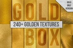 240+ Gold Background Texture Pack by Paper Element on @creativemarket