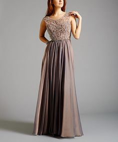 Look what I found on #zulily! Stone Oceane Gown - Plus Too #zulilyfinds