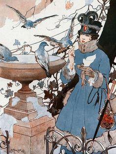 A. Nemecek 'The Pigeons Of Luxembourg' For La Vie Parisienne 1916