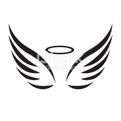 Wing D Angel Drawing Bank Of Images, Vectors And Illustrations … - Tattoos Angel Drawing Easy, Angel Wings Drawing, Halo Tattoo, Tattoo Outline, Mini Tattoos, Small Tattoos, Easy Tattoos To Draw, Angel Outline, Muster Tattoos