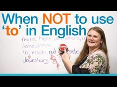When NOT to use 'to' in English - Grammar -         Repinned by Chesapeake College Adult Ed. We offer free classes on the Eastern Shore of MD to help you earn your GED - H.S. Diploma or Learn English (ESL).  www.Chesapeake.edu
