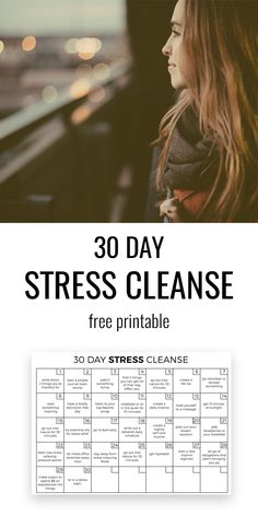 30 Day Stress Cleanse. A simple and powerful way to slowly destress yourself and feel fresh and free. #stress #stressrelief #anxiety #challenge