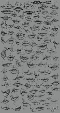 10 Amazing Nose Drawing Tutorials Ideas Brighter Craft - Sites new Pencil Art Drawings, Art Drawings Sketches, Easy Drawings, Mouth Drawing, Nose Drawing, Manga Nose, Boca Anime, Lips Sketch, Sketch Mouth
