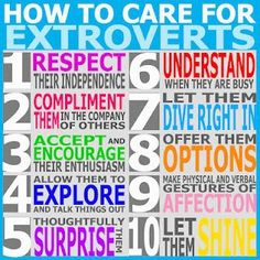 How to care for extroverts.