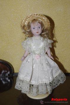 Muñecas Porcelana: Preciosa muñeca toda de porcelana de 21cms. - Foto 4 - 33461013