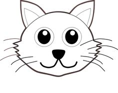 Gatos para colorear 11 Cat Coloring Page, Disney Coloring Pages, Animal Coloring Pages, Adult Coloring Pages, Colouring, Cats Wallpaper, Cat Face Drawing, White And Black Cat, Cute Cat Face