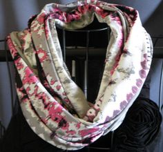 SALE abstract pink gray white and black by ScarfLadyDesigns, $19.80
