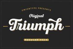 nice UT Triumph Regular Font Pack CreativeWork247 - Fonts, Graphics, Themes...