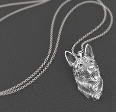 German shepherd Pendant with Necklace