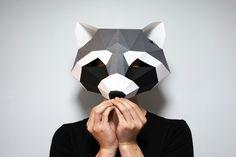Raccoon Mask & Wall Art SET PDF TEMPLATE : Low Poly 3D Model Mask Wall Art Origami Papercraft Pepakura - Etsy Paper Wall Art, 3d Wall Art, Wall Art Sets, Paper Mask, 3d Paper, Raccoon Mask, Origami, Low Poly 3d Models, Iris Flowers