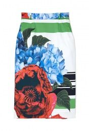 Don't fear leaving an impression - make a beautiful impression with this: Preen ella floral collage print pencil skirt