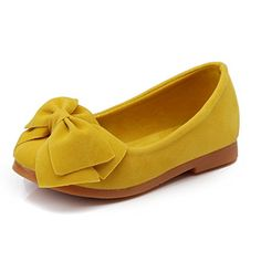 Amazon.com   O N Toddler Girls Kids Bow Suede Leather Slip-On Loafers Flats  Casual Shoes   Loafers 6dd9ce4d82d2