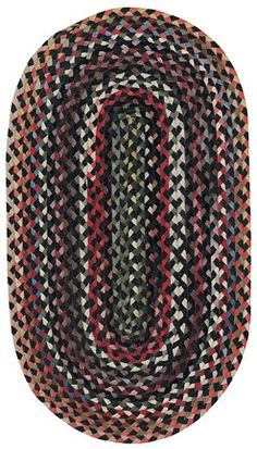 Plymouth braided rug (black) by Capel