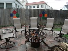 Love our new patio extension and fire pit!