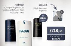 AQUI TEM PROMOÇÃO  Só nesta segunda, 04/05, compre qualquer fragrância de desodorante kaiak Masculino regular e ganhe o refil. #natura #kaiak #naturakaiak #desodorante #promoção #desconto  rede.natura.net/espaco/spacofabi/nossos-produtos/kaiak-62b  Curta minha página e fique por dentro das Promoções e novidades da Rede Natura.  www.facebook.com/fabispaco