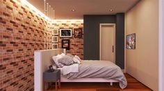 Este é o quarto de um dos lofts que a Conseil Arquitetura projetou na Vila Olímpia em SP. Veja os detalhes da iluminação