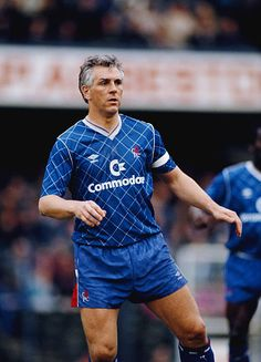 Chelsea defender Graham Roberts in action during a League Division Two match against Leeds United at Stamford Bridge on April 22 1989 in London. London Football, Retro Football, Chelsea Football, Chelsea London, Chelsea Fc, Chelsea Players, Stamford Bridge, Leeds United, Football Players
