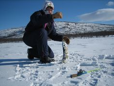 Pike on ice fishing