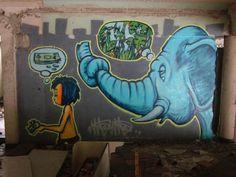The Elephants of Bangkok Graffiti Mural Art Graffiti Murals