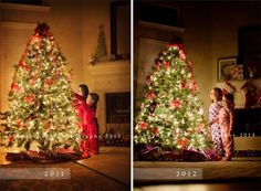 How to photograph your children and your Christmas tree - Tutorial