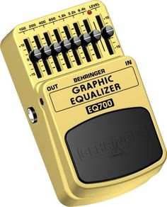 Behringer EQ700 Graphic Equalizer Pedal - Here's one effects pedal you'll want to leave on all the time. Shape your tone and eliminate feedback with 7 bands of EQ and 15 dB of cut/boost on each band.