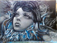 Odeith Portuguese Anamorphic Graffiti  Lazer Horse