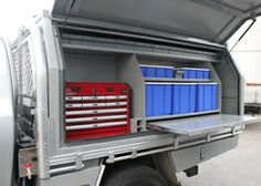 Toolbox & Canopy - Specialising in the design & fabrication of custom made tool boxes, canopies & truck tool boxes, custom trays in Melbourne. Custom Ute Trays, Custom Tool Boxes, Truck Boxes, Truck Tool Box, Work Trailer, Trailer Plans, Ute Canopy, Aluminum Fabrication, Dodge