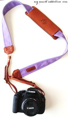 Our camera straps are made in the USA, use genuine leather, give back and you can add a custom monogram or even business logo for just $8! www.fotostrap.com