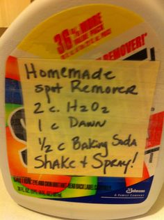 How to Make Homemade Laundry Stain Remover