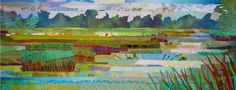"""Sue Benner - Quilt """"Marsh #17"""" from this website: http://www.quilting-adventures.com/fall-quilting-retreat/   She does amazing work"""