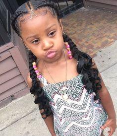 Little Girl Braids and Curls lil girl black little girls hair styles - Hair Style Girl Little Girl Braids, Black Girl Braids, Braids For Kids, Girls Braids, Little Girl Braid Styles, Toddler Braids, Braids For Black Kids, Girls Updo, Black Kids Hairstyles