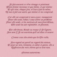 Mon rêve familier - Verlaine