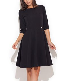 Look what I found on #zulily! Black A-Line Dress by Katrus #zulilyfinds
