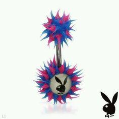 PlayBoy Body Ring, Rubber Multicolor Bunny, PlayBoy piercing