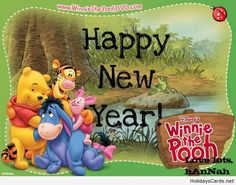 Happy new year from winnie the pooh