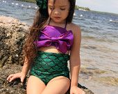 Little mermaid's custom swimwear. Sizes 2-12.
