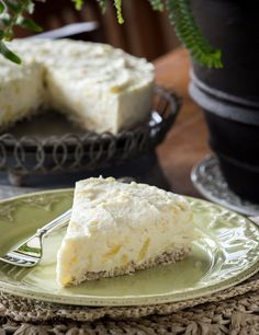 Vegan Raw Coconut Pineapple Cheesecake