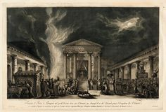 """""""The Temple of Isis in Pompeii, as It Was to Be in the Year 79,"""" by Jean-Claude Richard de Saint Non (c1781-1786)"""