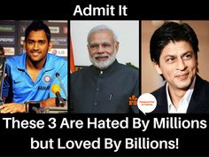 Lovers are more than Haters for these 3 Celebs!!  #NarendraModi #MSDhoni #ShahRukhKhan #celebrities #love #mondaymotivation