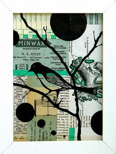 lisa congdon like this idea a patchwork of papers with a silhouette image over