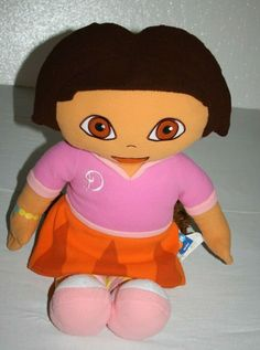 "29"" Dora The Explorer Doll Soft Toy Pillow Fleece Plush Stuffed Large Big Nick #Nickelodeon"