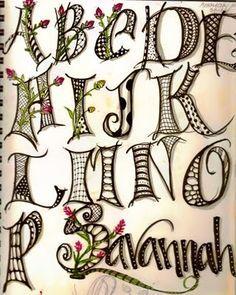 Lettering - Art Lettering - Hand Lettering -Typography - Calligraphy - letter filler ideas