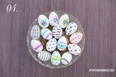 The Pros and Cons of Dyeable Craft Easter Eggs - drawing on eggs with sharpie marker technique     Intentionandgrace.com
