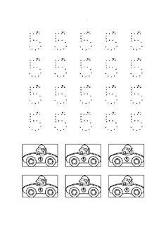 Actividades para imprimir Practica la escritura de los números. http://pequescuela.com/actividades-preescolar-imprimir-grafomotricidad-numeros29.html