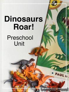 Dinosaur Roar Preschool Unit   Bambini Travel