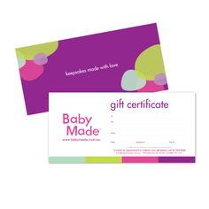 Give a gift that lasts a lifetime! A Baby Made Gift Certificate for $100 makes...