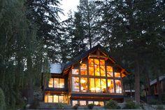 Little Shuswap Chalet Lake Cabins, Lake Cottage, Douglas Fir, Wood Construction, Joinery, Service Design, Home And Garden, Woodworking, Backyard