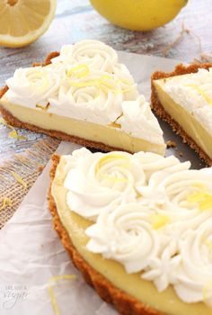 Creamy Lemon Tart - sweet, tart and delicious!