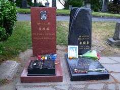 R.I.P. Bruce Lee and Brandon Lee, Lake view cemetery, Capitol hill, Seattle